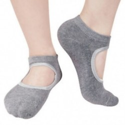 Szürke Női pamut masszírozó zokni jóga barre zokni csúszásmentes skid barre pilates balett