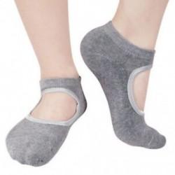 Szürke Női divat pamut zokni jóga barre zokni csúszásmentes skid barre pilates balett