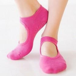 Rózsavörös Női pamut jóga masszírozó zokni Barre zokni csúszásmentes skid Barre Pilates balett