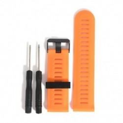 narancs 1db csere szilikagél gyors telepítésű sávszíj a Garmin Fenix 5X GPS órához