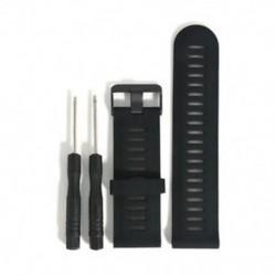 Fekete Új csere Silicagel Gyors telepítésű sávszíj a Garmin Fenix 5X GPS Watchhez