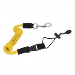 Sárga 1x biztonsági kajak-kenu csónak lapát pórázos horgászbot tekercselt nyakpántos kábel