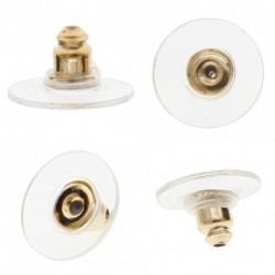 100 pár biztonsági fülbevaló dugó ezüst és arany színben