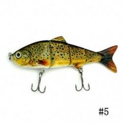 5 * 1PCS Minnow horgászbéka Crank Bait Hooks Bass Crankbaits Fogás a süllyedő popperhez