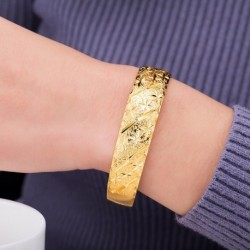 1 db luxus Dubai Arany színű női kavicsos karkötő divatos ékszer ajándék kiegészítő