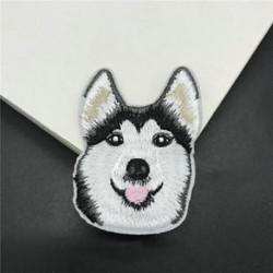 1db kutya Hímzett varrott vasalat a javításokhoz Jelvényes kalap táska DIY szövetbevonat