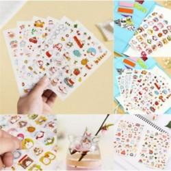 6 Lapos nyúl Hot Calendar Scrapbook Album naplókönyv Decor DIY papír tervező matrica kézműves