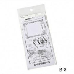 B-8 45Pcs / Set Hot Calendar Scrapbook Album naplókönyv Decor DIY papír tervező matrica kézműves