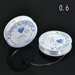 0,6 mm-es 2PCS / Pack Crystal Elasztikus Gyöngyös Cord String Thread DIY nyaklánc karkötő