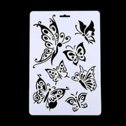 3 * Pillangó Angel Butterfly Layering Stencils Festés Scrapbooking Stamps Album DIY Craft