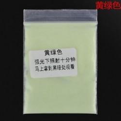 Sárga zöld 10g fényes fényes fényes fény a sötét por izzó pigmentben