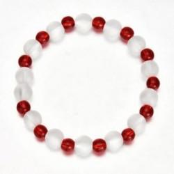 Lucky természetes gyönyörű vörös kvarc gyógyító kristály Stretch gyöngyös karkötő forró
