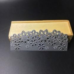 * 19 Virág (136 * 56 mm) DIY Metal 3D vágószerszámok Stencil Scrapbook Album papírkártya Dombornyomó kézműves