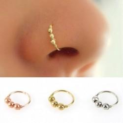 1 db szexi arany ezüst színű kerek gyöngyö orr gyűrű orr karika Piercing ékszer 6mm / 8mm / 10mm