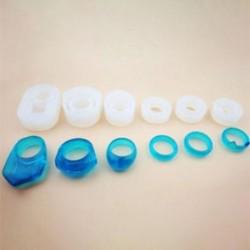 6db / szett 1 / 7pcs szilikon öntvény DIY készítése penész gyanta kézműves nyaklánc medál ékszerek