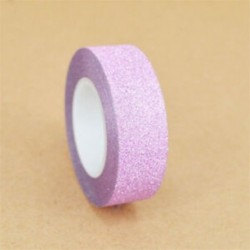 1 tekercs rózsaszín (15mmX10m) Washi szalagos papír maszkoló szalag Scrapbook dekoratív DIY ragasztó matrica dekoráció