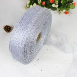 Ezüst 200 * 5CM színes szalag csipke karácsonyi karácsonyi fa dekoráció esküvői fél dísz