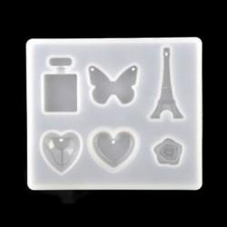 * 4 Szilikon nyaklánc függő penész DIY gyanta dekoratív kézműves ékszer készítés penész