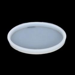 1db ovális (9,5 * 6 cm) Tiszta szilikon négyzet alakú penész polimer agyag gyanta kézműves DIY ékszer készítés