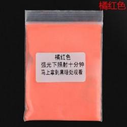 Narancsvörös Fluoreszkáló szuper fényes ragyogás a sötét fényes por ragyogás pigment pártjában