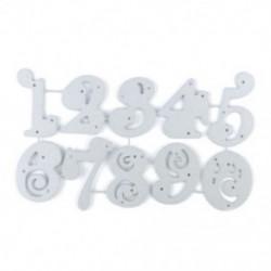 * 13 10 Szám (12 * 6,8 cm) DIY fém csipke vágószerszámok Stencil Scrapbook Album papírkártya dombornyomó kézműves