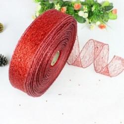 Piros Színes szalag csipke karácsonyi karácsonyi fa dísz esküvői dekoráció 200 * 5cm