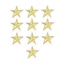 Arany 10Pcs csillag hímzés varrni vasalat a javítás jelvény ruhák Applique táska szövet DIY