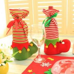 1x Karácsonyi zokni Ajándék tasak tartó meglepetés dekoráció