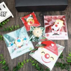 100db Karácsonyi Mikulás télapó mintás ajándék sütis meglepetés zacskó