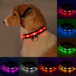 1x Állítható LED fény Villogó kutya macska nyakörv