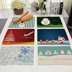 1x Karácsonyi placemat asztali mintás edényalátét étkezés ünnepi terítés