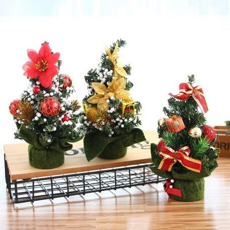 20cm karácsonyfa fenyő díszített asztali dísz ünnepi dekoráció