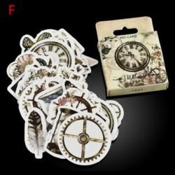 *F 46Pcs / Set DIY Naptár Scrapbook Album napló Könyv Decor papír tervező matrica kézműves JP