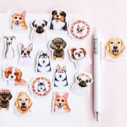 45db aranyos kutya DIY Naptár Scrapbook Album napló Könyv Decor papír tervező matrica kézműves JP