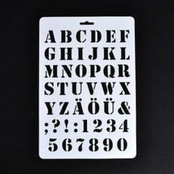 1 * Festés Scrapbooking papírkártyák Craft Letter ábécé száma Layering Stencils