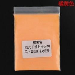 Narancs sárga 10g fény a sötét akril fényes por világos pigment graffiti fél DIY