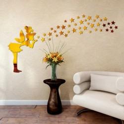 1x angyal mintás Akril tükör hatású falimatrica matrica Vinyl otthon szoba lakás dekoráció