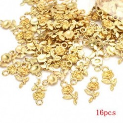 Arany Nagykereskedelem 16db tibeti ezüst rózsa virág ékszer medál gyöngy ékszer készítés