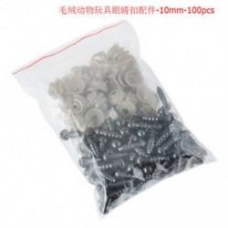 10mm 100Pcs 6-12mm fekete műanyag biztonsági szemek mackó baba állati bábra