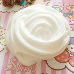 fehér Fluffy Slime Floam ADHD autizmus felnőtt stresszcsökkentő gyerekek 60ml / 2.2oz HOT