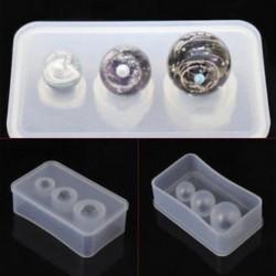 1db -3 vegyes méretű labda Tiszta szilikon öntőforma készítés ékszer medál gyanta öntés penész kézműves DIY