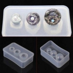 Kerek gyöngy öntőforma szett - 3 méretben - Szilikon öntőforma ékszerek - medálok készítéséhez