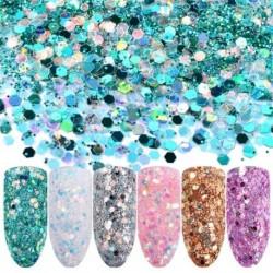 6db Körömpor Glitter por fólia körömdíszítő manikűr smink kozmetikum