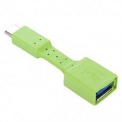 Zöld USB-C 3.1 C típusú férfi-USB 3.0 adapterkábel OTG Data Sync töltő töltése