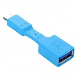 Kék USB-C 3.1 C típusú férfi-USB 3.0 adapterkábel OTG Data Sync töltő töltése