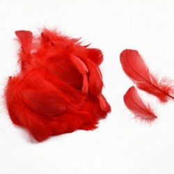 Piros 100db természetes libaművös üvegek valódi hattyú tollas esküvői fél DIY dekoráció