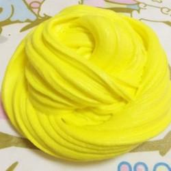 Sárga Színes Fluffy Floam Slime illatos stresszoldó gyerekek iszapjátékok Borax Hot