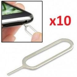10 db Rengeteg 100db SIM-kártya tálca ejektorkulcs-eltávolító pin kiadó eszköz az Apple iPhone készülékhez