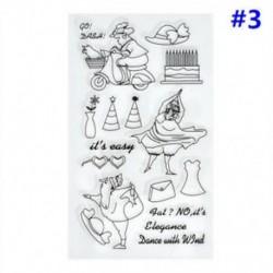 3 * Szilikon tiszta gumi bélyegek pecsét Scrapbooking Album kártya dekoráció napló Craft DIY