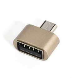 Arany 1PCS Micro USB 2.0 női USB-hez 3.1 C típusú férfi átalakító USB-C OTG adapter